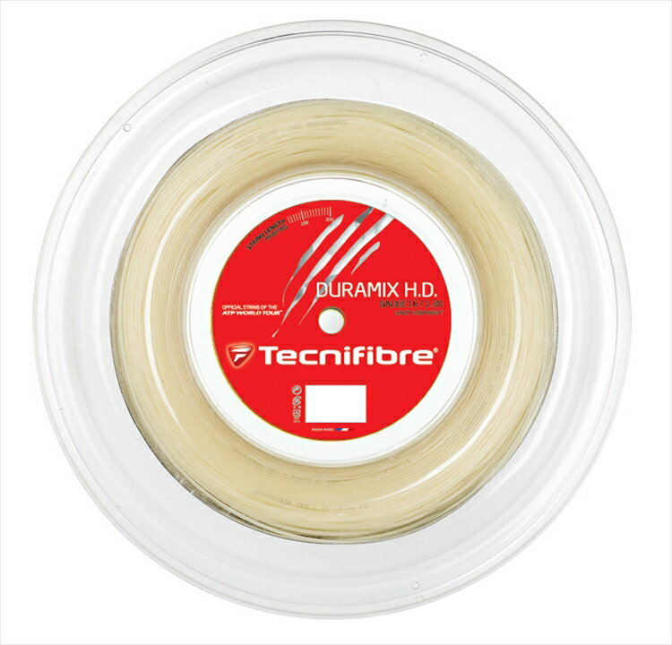 Tecnifibre(テクニファイバー)「DURAMIX HD(デュラミックスHD) 200mロール TFR701」硬式テニスストリング(ガット)