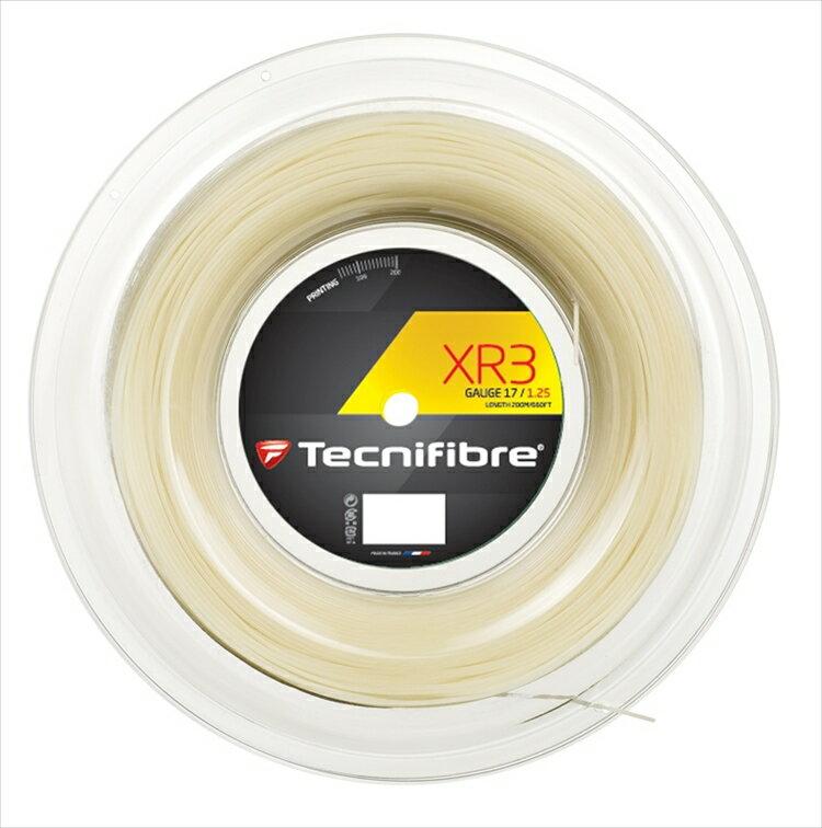 「あす楽対応」「新パッケージ」Tecnifibre(テクニファイバー)「XR3(エックスアール3) 200mロール TFR910」硬式テニスストリング(ガット) 『即日出荷』