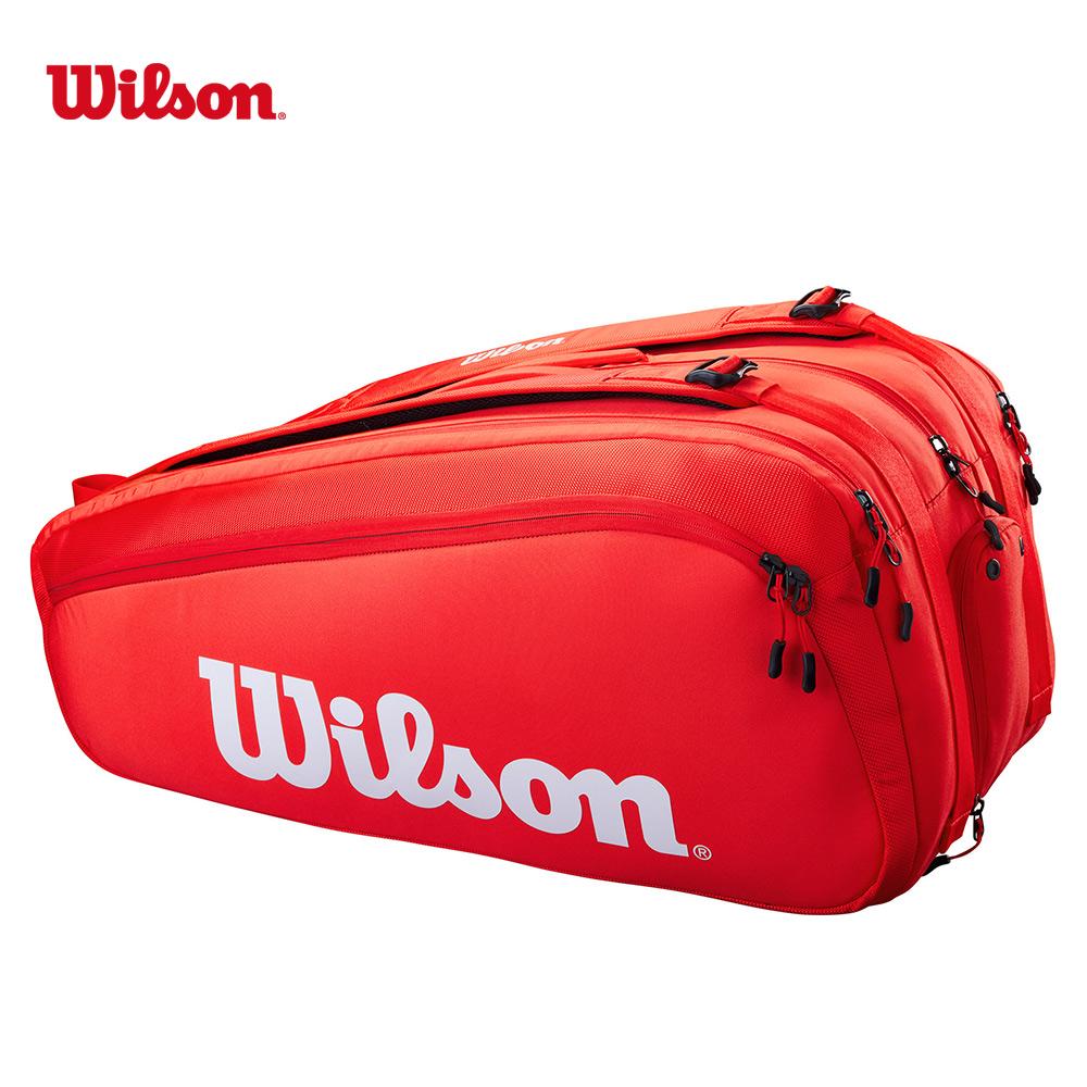 送料無料 ウイルソン Wilson テニスバッグ ケース SUPER 祝日 ラケットバッグ 15PK 激安挑戦中 TOUR スーパーツアー WR8010301001 15本収納可能