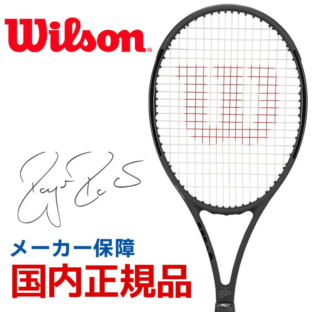 【エントリーでポイント10倍▲さらに買い回りで10倍 8/14~21】ウイルソン Wilson 硬式テニスラケット 2019 PRO STAFF RF97 Autograph Black in Black プロスタッフ RF 97 オートグラフ WRT73141S