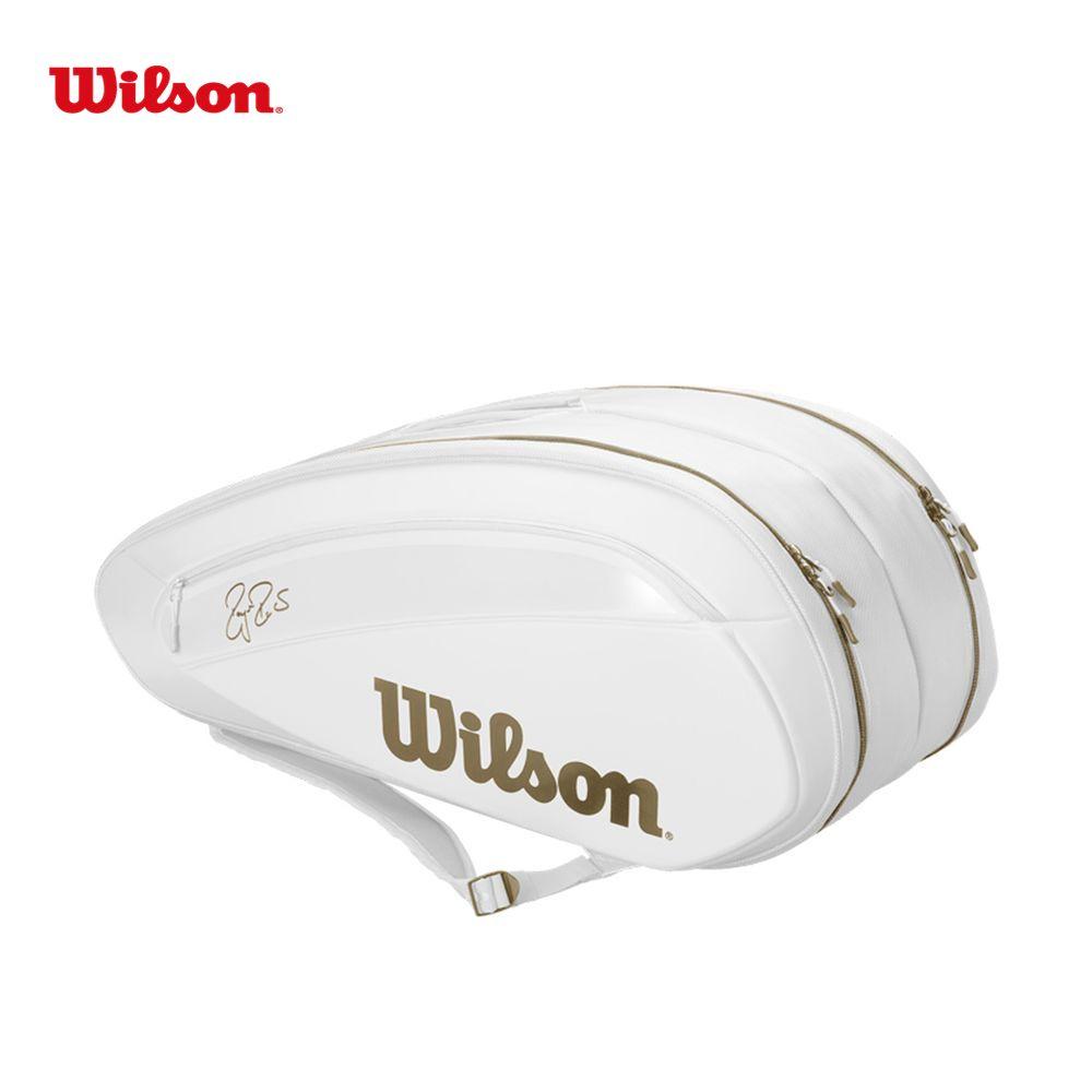 「あす楽対応」ウイルソン Wilson テニスバッグ・ケース FEDERER DNA 12 PACK WHITE/GOLD ラケットバッグ(12本入)※ロジャー・フェデラー2019ウィンブルドン使用予定モデル WR8004401001 『即日出荷』