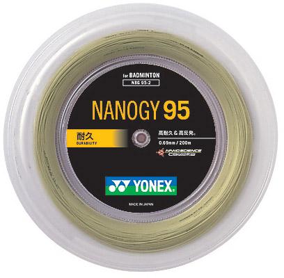 「あす楽対応」YONEX(ヨネックス)「ナノジー95(NANOGY 95)[200mロール] NBG95-2」バドミントンストリング(ガット)【smtb-k】【kb】【kpi24】 『即日出荷』