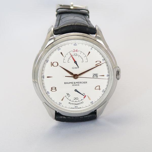 ボーム&メルシェ BAUME&MERCIER CLIFTON クリフトン GMT パワーリザーブ ホワイト MOA10421【数量限定特価!!】