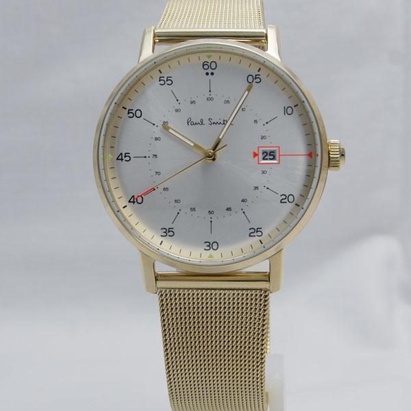 Paul Smith ポールスミス 腕時計 Gauge 41mm IPG イエローゴールドブレス P10130