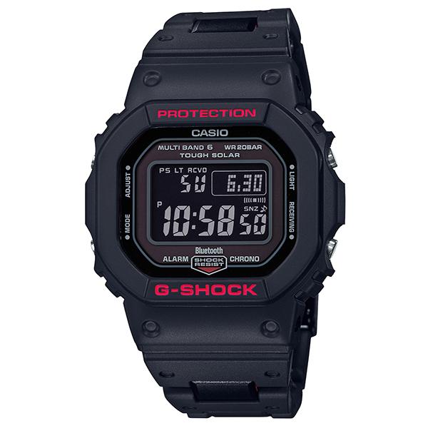 カシオCASIO G-SHOCK Gショック ジーショック モバイルリンク 電波 ソーラー デジタル 腕時計 ブラック レッド GW-B5600HR-1JF【国内正規品】