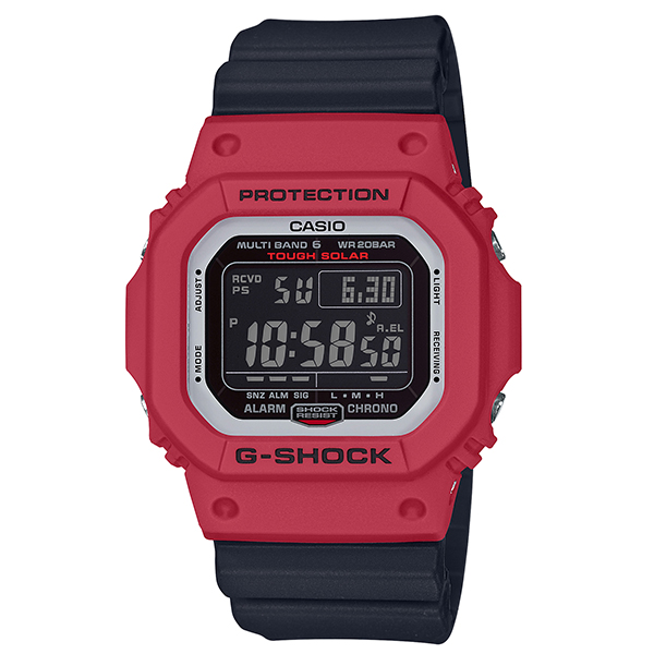 カシオCASIO G-SHOCK Gショック ジーショック 電波 タフソーラー デジタル 腕時計 ブラック レッド ホワイトGW-M5610RB-4JF【国内正規品】