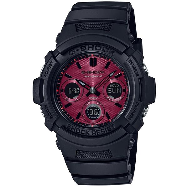 カシオCASIO G-SHOCK Gショック ジーショック 電波 タフソーラー デジタル 腕時計 レッドカラー AWG-M100SAR-1AJF【国内正規品】