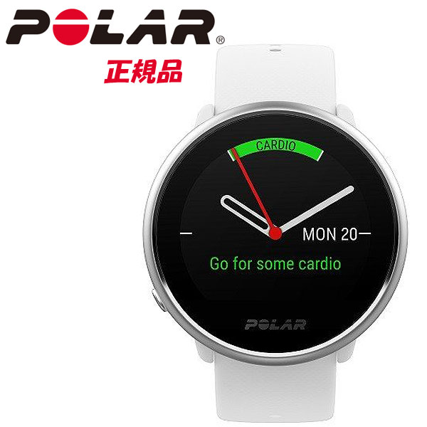 【即納】POLAR ポラール手首型心拍計機能を備えたGPS内蔵フィットネスウォッチ POLAR IGNITE WH ホワイト【国内正規品】【2019夏 NEWモデル】90071067,90072456