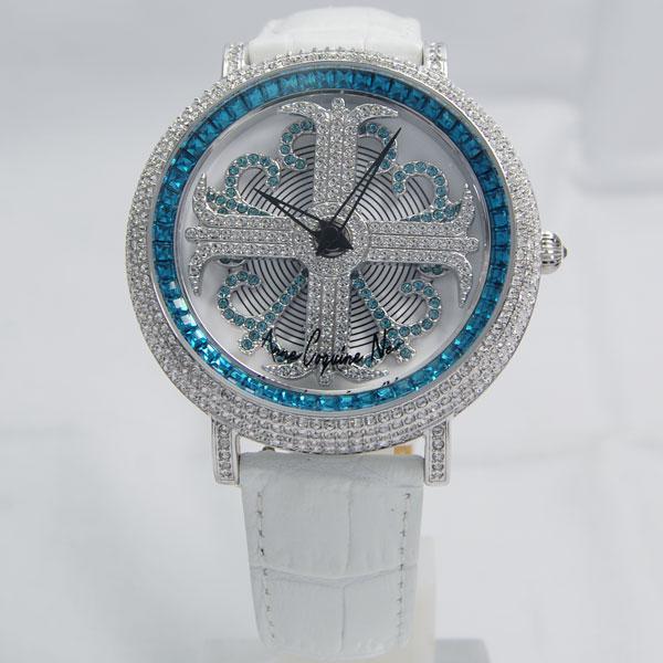 アンコキーヌ ネオ Anne Coquine Neoイール 46mm ブルー M1-4E【正規品】【ぐるぐる時計・グルグル時計】