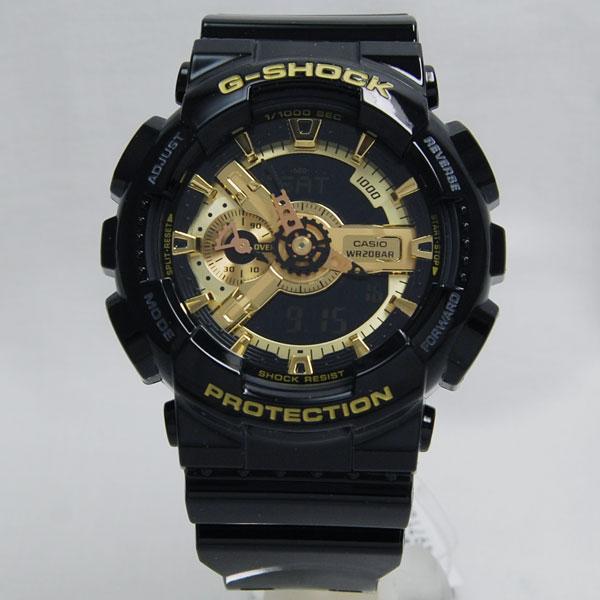 【即納】カシオCASIO GショックG-SHOCK 海外モデルブラック/ゴールドGA-110GB-1A【数量限定特価】