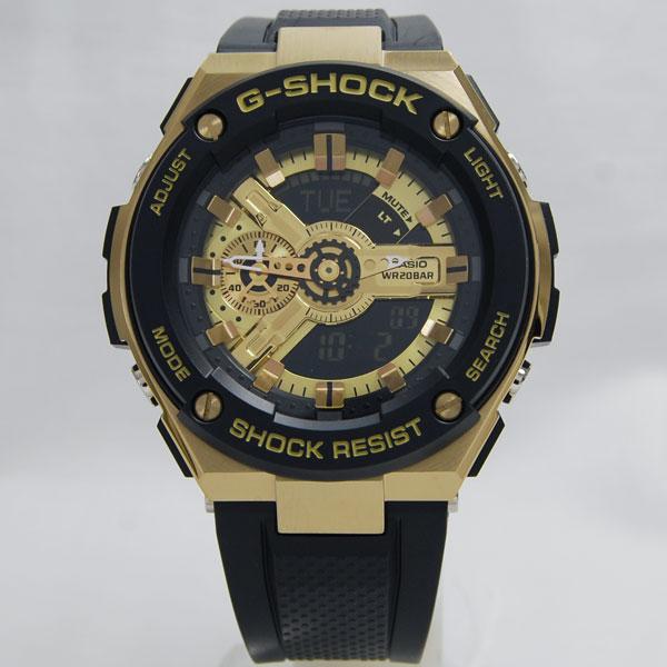 【即納】カシオCASIO Gショック ジーショック G-SHOCK 海外モデル G-STEEL GOLD ゴールド GST-400G-1A9