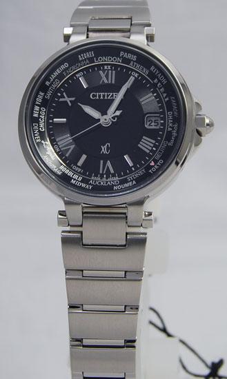 シチズン クロスシーハッピーフライトエコドライブ 電波時計レディース EC1010-57F