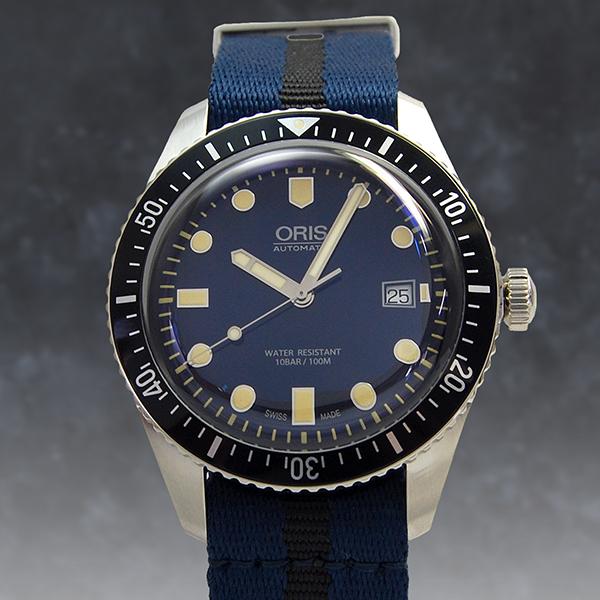 kr 2004 oris and divers 65 42 mm satin strap 733 7720 4055d bl