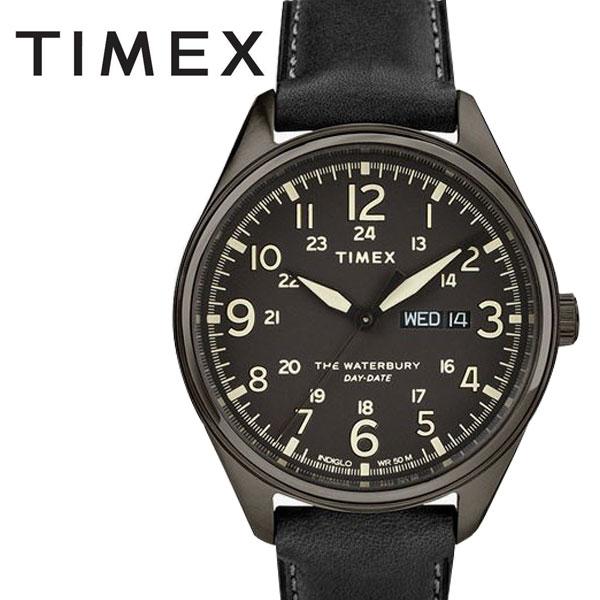 タイメックス TIMEX ウォーターベリー トラディショナル ブラック レザー TW2R89100 正規品【数量限定特価】