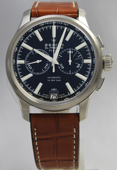 ZENITH pilot chronograph BK leather 03.2117.4002/23.C704