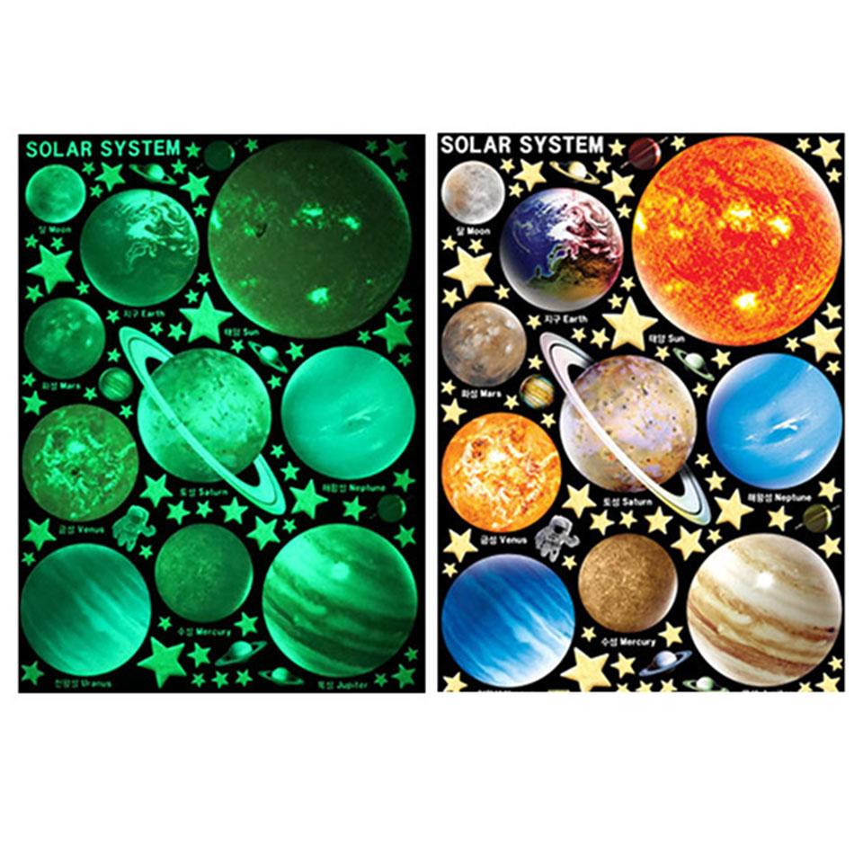 ウォールステッカー 星 シール 宇宙空間 リメイクシート 宇宙 蓄光