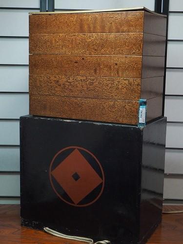 五段重箱漆器/重箱/貝/JAPAN/器骨董・アンティーク【中古】 0717