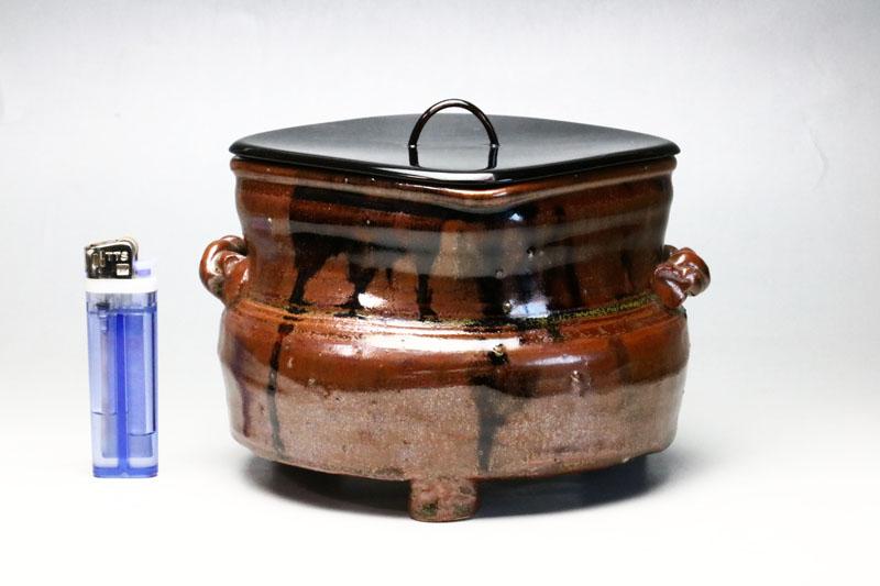 0011 野だて用の三つ足水指◆茶道具・骨董・リサイクル【中古】