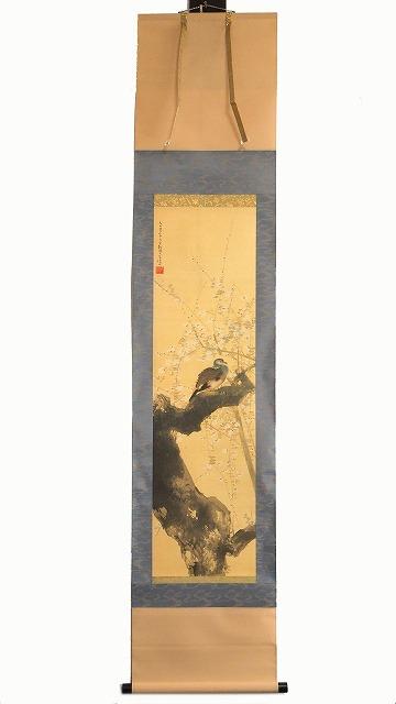 工芸品 土田麦僊 春秋花鳥図 春 掛軸 0288日本画 紙もの 画家 ついに入荷 アンティーク 額油彩画 中古 骨董 店内全品対象 古民家