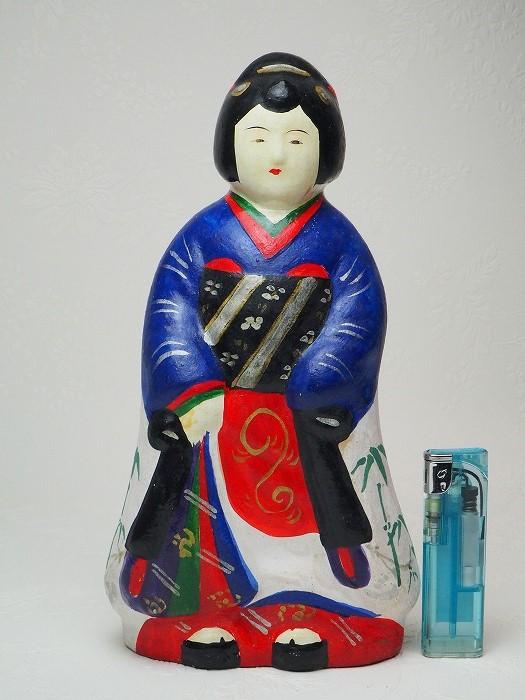 0178 立ち娘の土人形 大浜人形日本玩具 アンティーク 贈物 土人形 飾り人形 古道具 古民家 古民具 お気にいる 中古