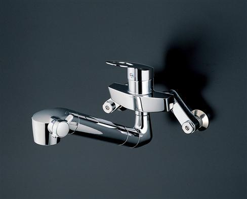 【TOTO】壁付シングル混合水栓 (吐水切り替えタイプ)[壁付き]GGシリーズ 浄水器兼用混合水栓 TKGG37E エコシングル 浄水・整流・シャワー メタル 逆止弁