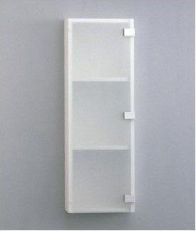 【TOTO】洗面所用 収納キャビネット(すりガラス調扉) YSL50G サイズ250×157×850 木質・ポリエステル化粧合板製 棚板可動式 ホワイトカラー 送料無料