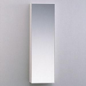 【TOTO】洗面所用 収納キャビネット(鏡扉) YSL50M サイズ250×168×850 木質・ポリエステル化粧合板製 棚板可動式 ホワイトカラー