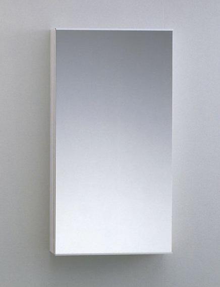 【TOTO】洗面所用 収納キャビネット(鏡扉) YSL51M サイズ450×168×850 木質・ポリエステル化粧合板製 ガードバー付き 棚板可動式 ホワイトカラー