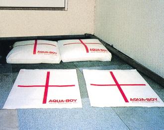 【アクアボーイ】AQUA-BOY 吸水バッグ タイプ:LH-1 5L吸水 100枚セット 屋内仕様 土嚢 洪水 災害対策 送料無料
