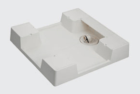 【SINANEN】シナネン BESTRAY ベストレイ 洗濯機パン 防水パン 64嵩上げ一体タイプ KSB-6464SNW カバー:KSB-C64SNW 3個 横引きトラップ:XT-W セット 送料無料!