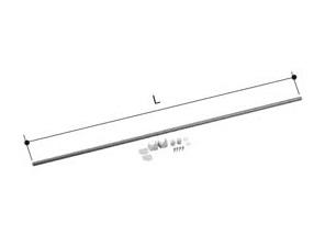 【LIXIL】洗面浴室用 ユニットバス S1216 対応 ランドリーパイプ LAP-1132-W 物干し竿 長さ1125mm 室内干し 大型商品:K&R住設商店