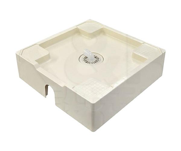 【TECHNOTECH】テクノテック 洗濯機用 床上配管対応防止パン 排水トラップセット TPU640 アイボリーホワイト W640×D640×H180 排水口中央 防水パン台座一体型 送料無料