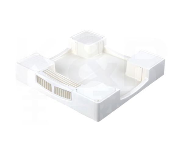 【TECHNOTECH】テクノテック 洗濯機用 かさ上げ防水パン セーフガードパン(ガードなし) TPW700 ニューホワイト W700×D700×H120 排水口中央 ドラム洗濯機対応