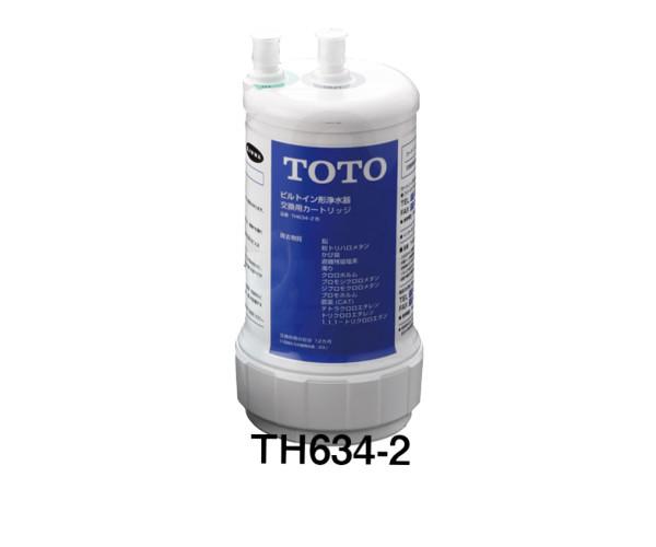 【TOTO】取り替え用浄水カートリッジ  TH634-2 ビルトイン形 13物質除去交換用 活性炭・不織布・中空糸膜 ろ過寿命12ヶ月 TEK300、TK302B2対応品 送料無料