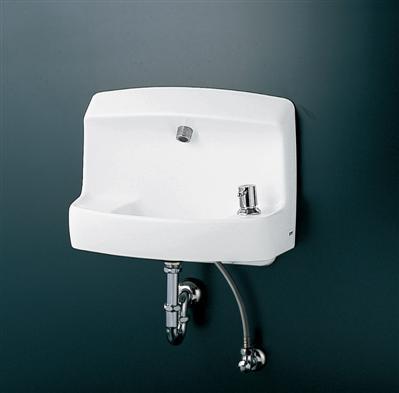 【TOTO】コンパクト手洗器 ハンドル式水栓セット LSL870APR 壁掛 壁排水 Pトラップ 送料無料