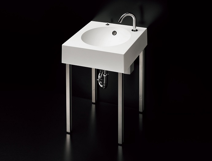 【TOTO】カウンター一体形コーナー洗面器 MLRC50AB PA14 水石けん入れなし 壁排水 T7W41 自動水栓 単水栓 TENA12A カフェプラン 室内 500X500X750 送料無料