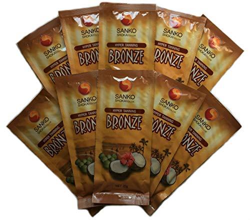 ブロンズ 正規取扱店 本物◆ タンニングジェル 20g 10袋入り 日焼けマシン専用ジェル