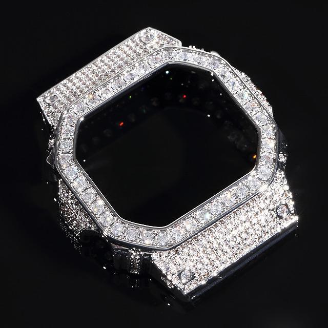 G-SHOCK カスタムパーツ DW5600 WG CZダイヤベゼル WHITE GOLD Gショック