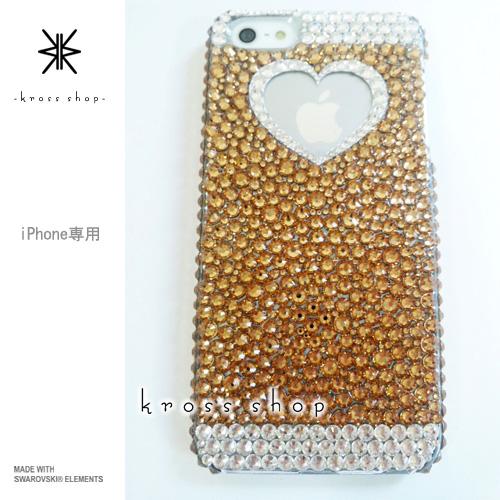 iPhoneX iPhone8 PLUS iPhone7ケース iPhone7 PLUS iPhone6s PLUS iPhoneSE iPhoneXケース iPhone8ケース スワロフスキー デコ ケース カバー キラキラ デコ電 ブランド 大人 かわいい -ゴールド系ランダム-
