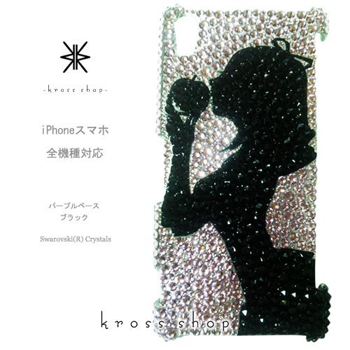 【全機種対応】iPhoneXS Max iPhoneXR iPhone8 iPhone7 PLUS Galaxy S9 + XPERIA XZ3 XZ2 iPhone XS ケース iPhone XR ケース スマホケース スワロフスキー デコ キラキラ デコケース デコカバー デコ電 かわいい -プリンセス 白雪姫 シルエット(パープルベース)-