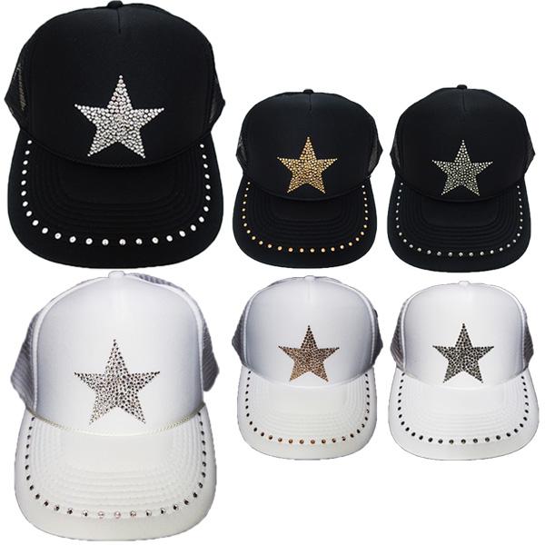 スワロフスキー キャップ スワロ 帽子デコ デコキャップ ラインストーン 星 スター