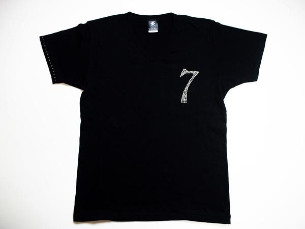 【0~9選択可能】ロンTも可能!メンズ Tシャツ スワロフスキー ビザン 数字 ナンバー -ブラックダイヤモンド-