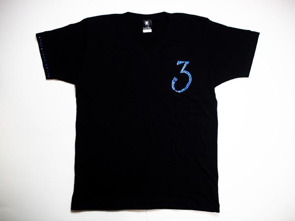 【0~9選択可能】ロンTも可能!メンズ Tシャツ スワロフスキー ビザン 数字 ナンバー -ブルー-