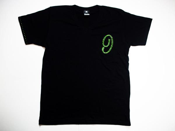 ロンTも可能!【0~9選択可能】メンズ Tシャツ スワロフスキー ビザン 数字 ナンバー -グリーン-