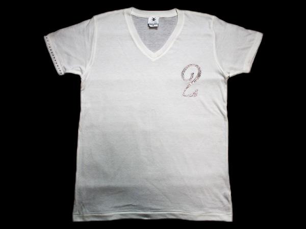 【0~9選択可能】ロンTも可能!メンズ Tシャツ スワロフスキー ビザン 数字 ナンバー -ホワイトベースのクリスタル-
