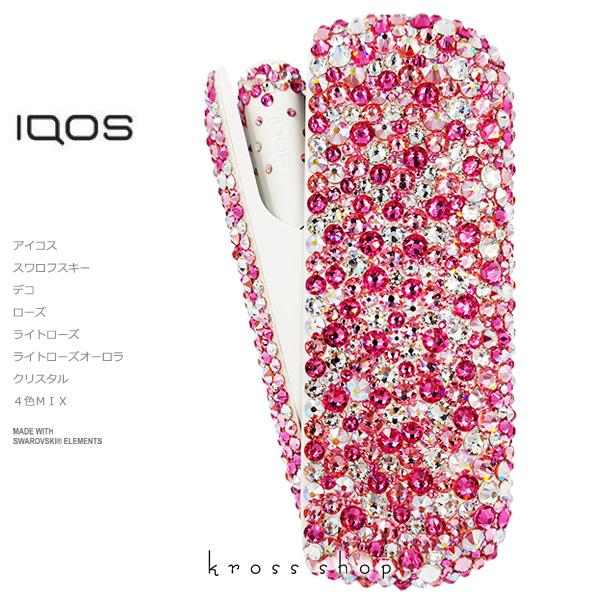 【新型IQOS本体キット込み】アイコス3 デュオ IQOS3 DUO 本体 キット アイコス IQOS ウォームホワイト 電子タバコ キャップ ドアカバー デコ アイコスキャップ IQOSキャップ スワロフスキー キラキラ ピンク ローズ イニシャル入れ 名入れ 名前入り ネーム