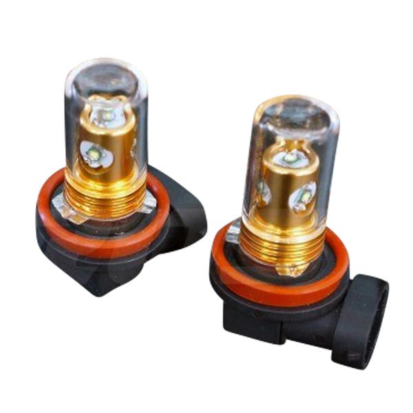 H11 LED フォグ フォグランプ 汎用 CREE LED 20W 白 ホワイト ガラス管 拡散型 2個セット 純正 フォグ フォグランプ 交換用 LED バルブ BROS ブロス製 _27140