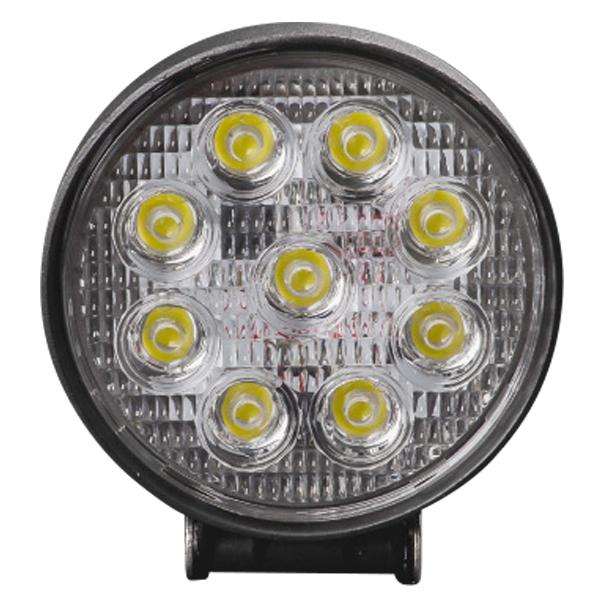 LED 投光器 ワークライト 作業灯 27W 丸型 10pcs ラウンドタイプ 防水 防塵 12V 24V 広角 照射 1800LM 純白光 6500K フォグランプ 集魚灯 LEDライト _45298