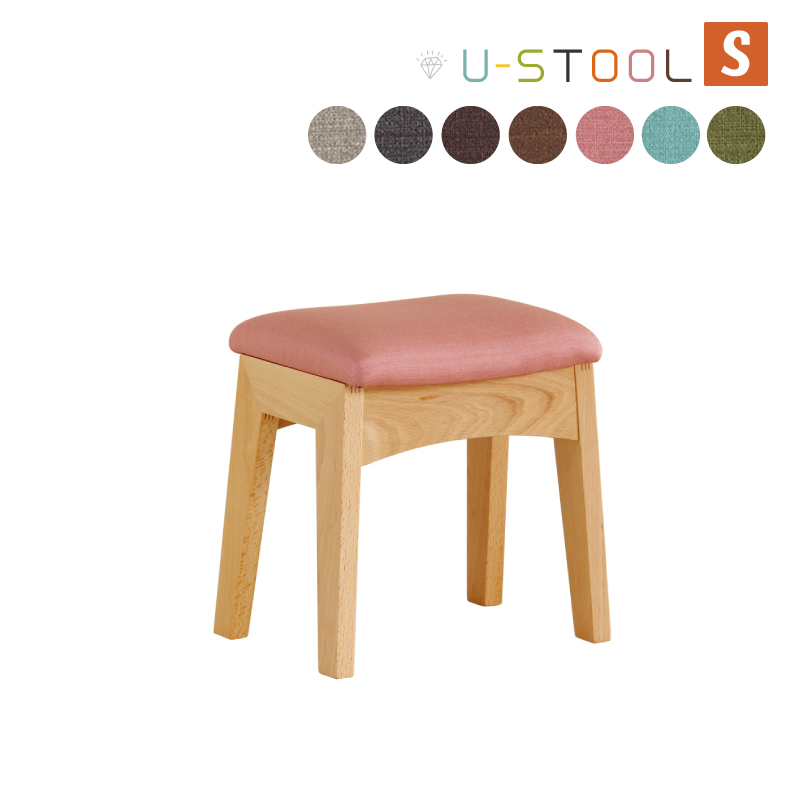 【10%OFFクーポン】送料無料 チェア 椅子 スツール 色が選べる リビング デザイン おしゃれ ファブリック PVC 合皮 木製 幅30cm 奥行21cm 高さ30cm 座面高26 組立品 【スツールS】【代引き不可商品】
