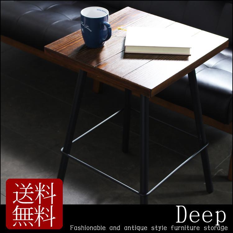 【10%OFFクーポン】サイドテーブル 木製 アンティーク調 カフェ テーブル サイドチェスト ベッド サイドテーブル 木製テーブル おしゃれ ブラック 黒 スチール リビング 北欧 シンプル アンティーク風 モダン レトロ ナイ